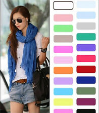 Fashion Womens Long Candy colors Neck Scarf Wraps Shawl Stole Soft Scarves 1
