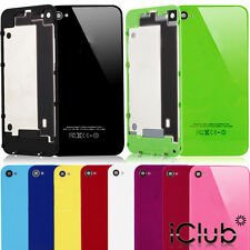 REAR GLASS REPLACEMENT BACK BATTERY CASE COVER FOR APPLE IPHONE 4G 4S + TOOLS