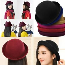 NEW Fashion Retro Trendy Cute Ladies Women Wool Felt Cloche Derby Bowler Hat Cap
