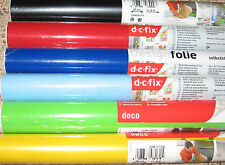 SOLID COLOR Self-Adhesive Design Foil CONTACT PAPER dc Fix DRAWER SHELF LINER