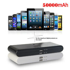 50000mAh Travel Portable External USB Battery Pack Power Bank Charger for Tablet