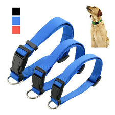 Hot Adjustable Nylon Pet Puppy Cat Dog Collar with Buckle Leash S/M/L
