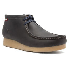 CLARKS STINSON HI MEN'S Navy Nubuck/Leather WALLABEE STYLE # 63365