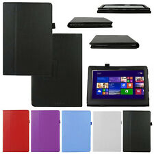 """Leather Case Stand Cover For 10.1"""" ASUS Transformer Book T100 T100TA Excellent"""