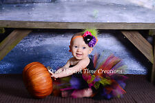 Spooky Couture Witch Tutu Dress Baby Girl 6 9 12 18 3T 4T 5T Halloween Costume