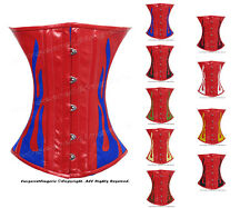 Full Steel Boned Waist Training Genuine Leather Undersbust Shaper Corset #9033-R