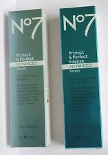 No7 PROTECT AND PERFECT ADVANCED  SERUM OR INTENSE SERUM USE DROP DOWN MENU