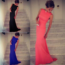 Sexy Women Prom Ball Cocktail Party Dress Formal Evening Gown Long Dress L5YG