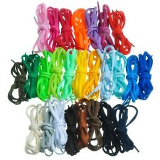 Half-round oval semi-round 120cm 1.2m shoe laces for Nike & others (19 colours)