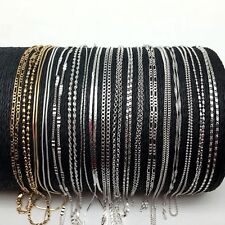 Wholesale 10pcs/lot Jewelry 925 Sterling Silver&18K Gold Filled Chains/Necklaces