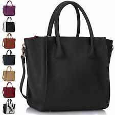 Womens Black Handbags Leather Ladies Shoulder Bags Designer Fashion Tote Large