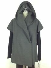 Calvin Klein NWT Modern and Contemporary Black and Gray Hooded Cape