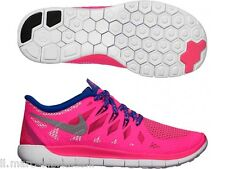 NIKE Free 5.0 Running Girls Shoes Sneakers Trainers Kids 644446-601 - New In Box