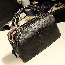 Vintage Womens OL Croco Tote Handbag Shoulder Crossbody Evening Bag Briefcase