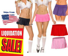 Sexy Pleated School Girl Costume Roleplay Micro Mini Short Skirt S/M or M/L USA