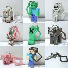 Fashion Minecraft 3D Jazwares Game Toys Belt Clip Hangers Keychain Keyring Gifts