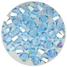 **Genuine Swarovski Aquamarine AB Bicone Crystal Beads