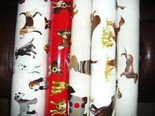 - 100% COTTON BACKED 0ILCLOTH DOGS  MATERIAL FOR TABLES APRONS BAGS CRAFTS ECT