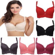 Women sexy lace push up bra plus size wired Convertible Straps B C D E Cup