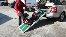 Portable Wheelchair Ramp, Lightweight Fibreglass Split Mobility Scooter Ramp.