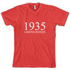 1935 Limited Edition - Mens 80th Birthday Present / Gift T-Shirt - 10 Colours