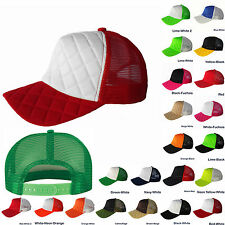 Unisex Men Lot Baseball Trucker Cap Quilted Mesh Hat Plain Fashion Snapback New