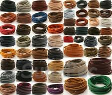 Real Genuine Hide Leather 1m Lace Thong Cord Flat jewelry DIY crafts 3mm 4mm 5mm