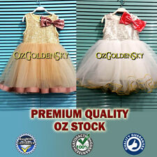 PREMIUM Flower Girl Sequin Tulle Tutu Baby Dress Vintage Party Wedding Birthday