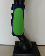 Horse Splint or Brush Boots Navy & Lime green AUSTRALIAN MADE Choose your size