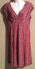 Black Label by Evan-Picone Size 6 10 dress red & black NWT