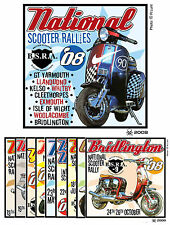 2008 NATIONAL SCOOTER RALLY PATCHES NOT PADDY SMITH LAMBRETTA VESPA SCOOTERBOY