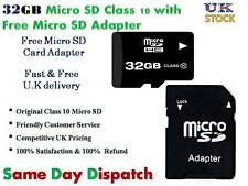 32GB Micro SD SDHC TF Flash Memory Card with adapter For  Smart Phone Camera Tab