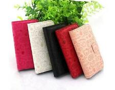 Cute Funny Girl Flip PU Leather Card slots Wallet Case Cover Pouch For Samsung 2