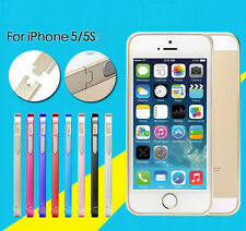 Luxury Ultra Thin Metal Aluminium Alloy Bumper Frame Cover Case For iPhone 5 5S