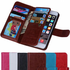 New Luxury 9 Card Leather Wallet Stand Case Flip Cover For Apple iPhone 5 5S 5G