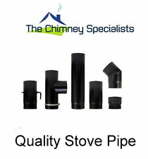 Stove Flue Pipe for connecting to woodburner - UK quality pipe full certificate