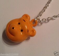 3D bell pendant necklaces childrens girls animals pooh bear tweetie pie pig