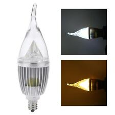 E12 10W LED Candle Light Chandelier Lamp Bulb Cool/Warm White Spotlight 85-265V