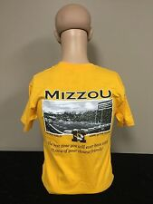 Mizzou Tigers Faurot Field Unisex Fit Adult T-shirt Gold