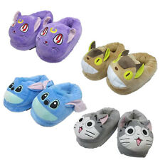 Sailor Moon Totoro Chis Sweet Home Stitch Plush Adult Slippers Home Shoes