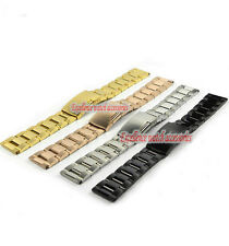NEW HEAVY SOLID GOLD Watch BANDS Bracelets 10 12 14 16 18 19 20 22 24 26 28 30mm