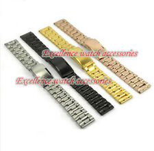 Special:MAN HIGH QUALITY Black Pure Solid Steel Watch Bands Strap Bracelets S1