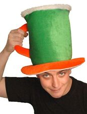Large Irish Beer Tankard Hat Pint St Patricks Day Flag Colour Paddys Funny Prop