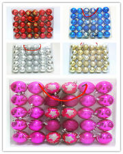 30PCS 6CM Colourful Balls Baubles for Christmas Tree Xmas Party Decorations home