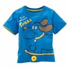 Kids Boys Cotton Short Sleeve Tee Dog T-Shirts Babys Toddlers 18M-6T Clothes New