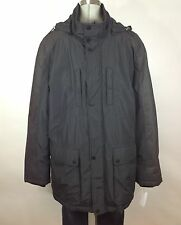 Cole Haan NWT Men's Black and Charcoal Hooded Down Parka Jacket, size M