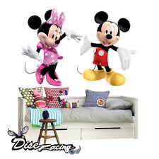 Vinilo Decorativo Pegatina vinilo impreso Mickey Minnie wall sticker Niño Niña
