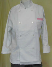 Generic Unisex Long Sleeve Chef Coat, White, Cotton Blend, Eight Button Front