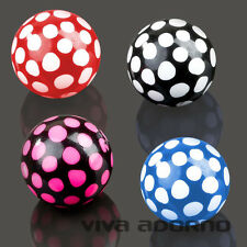 1,6mm Piercing Screw-Ball Dots Acryle Spare Closure Ball polka dotted Z354