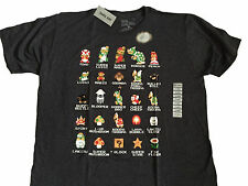 Super Mario Bros Nintendo NES 8 Bit Cast Vintage Classic Video Game T Shirt